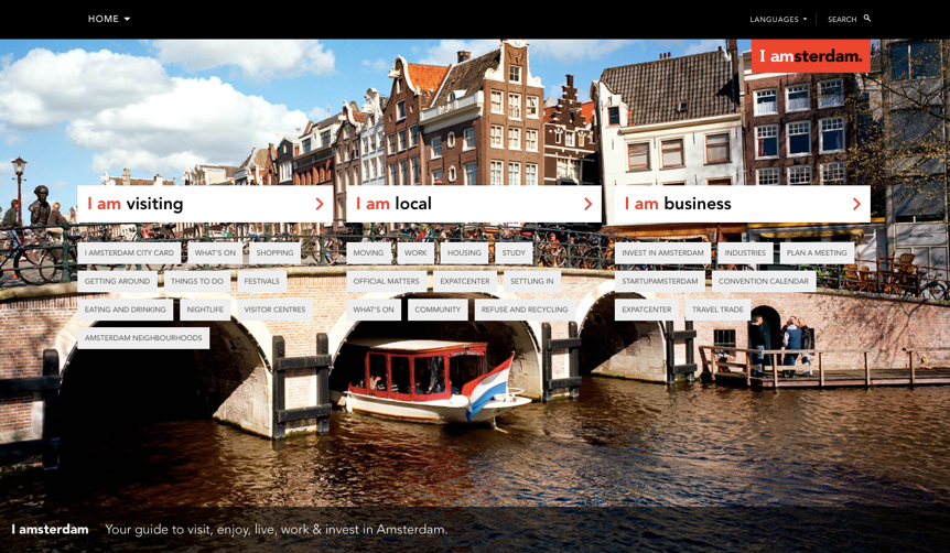 Amsterdam municipal website design